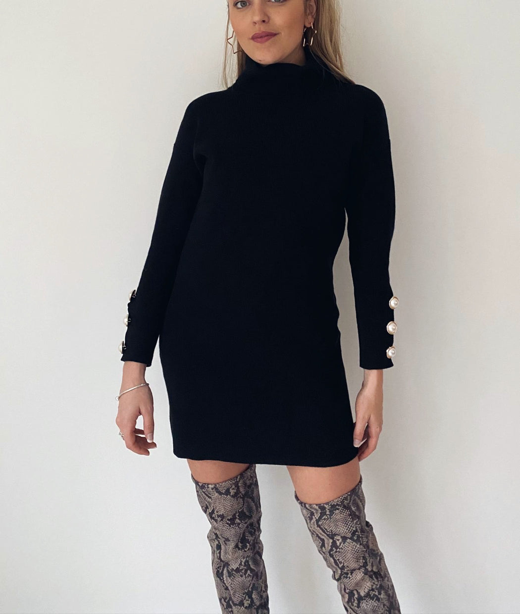 Gina Jumper Dress | Black