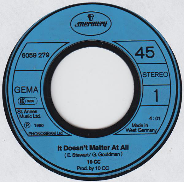 10cc ‎– It Doesn't Matter At All