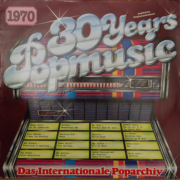 Various ‎– 30 Years Popmusic 1970