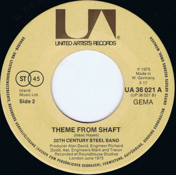 20th Century Steel Band ‎– Heaven And Hell Is On Earth / Theme From Shaft