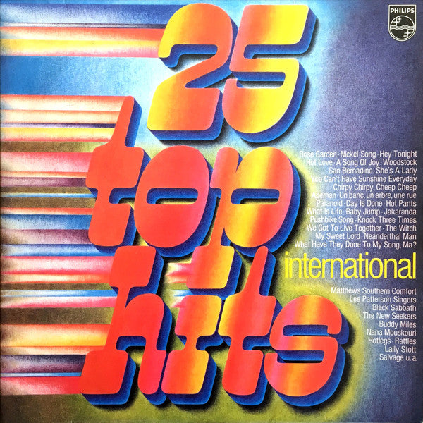 Various ‎– 25 Top Hits International  2LP