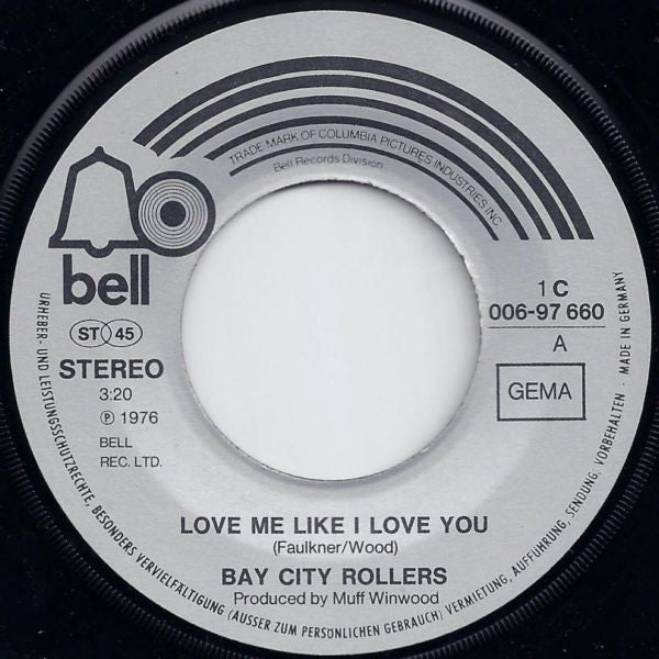 Bay City Rollers ‎– Love Me Like I Love You