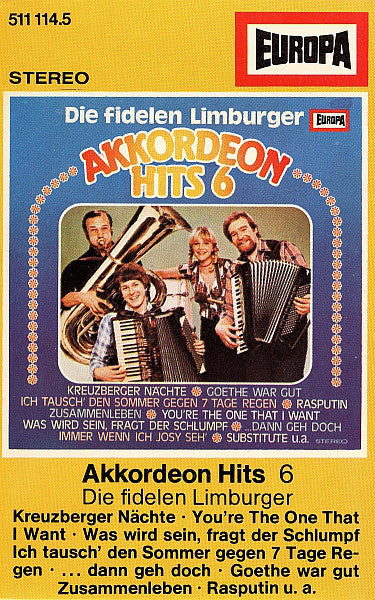 Die Fidelen Limburger ‎– Akkordeon Hits 6