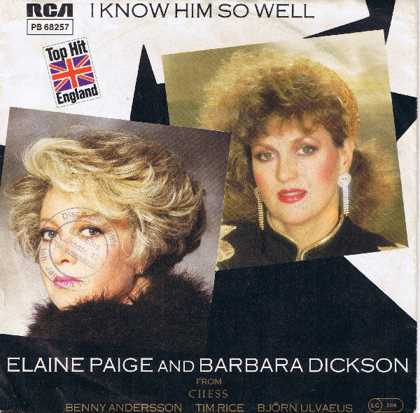 Elaine Paige And Barbara Dickson ‎– I Know Him So Well