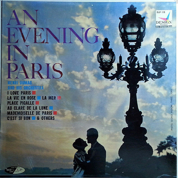 Henri Dumas And His Orchestra ‎– An Evening In Paris