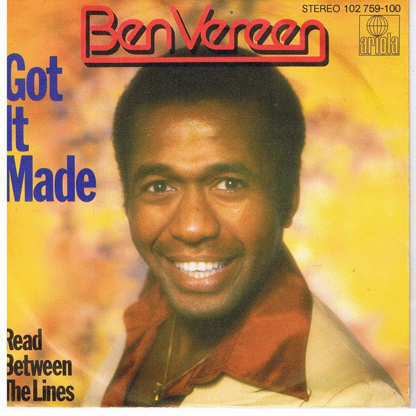 Ben Vereen ‎– Got It Made / Read Between The Lines