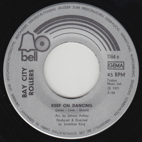 Bay City Rollers ‎– Keep On Dancing