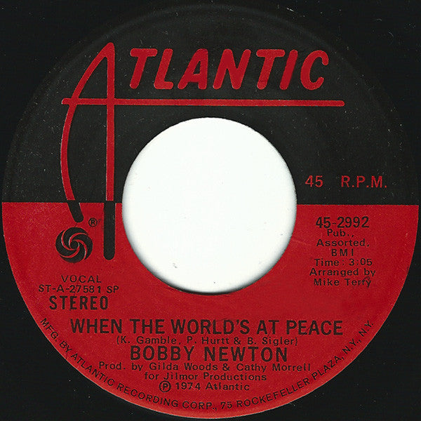 Bobby Newton ‎– When The World's At Peace / If You Can't Be My Woman