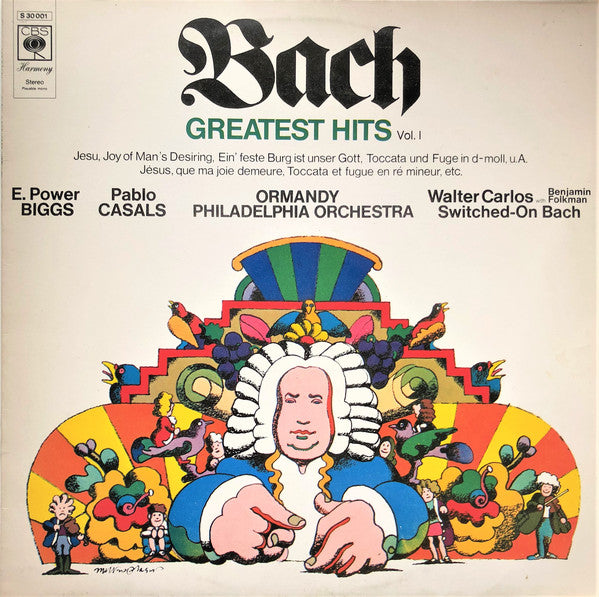 Bach* / E. Power Biggs, Pablo Casals, Ormandy*, Philadelphia Orchestra*, Walter Carlos With Benjamin Folkman ‎– Greatest Hits (Vol. I)