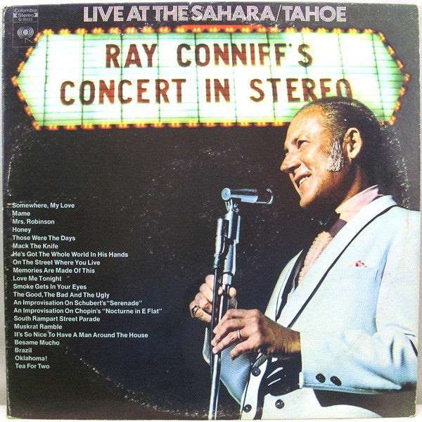 Ray Conniff And The Singers ‎– Ray Conniff's Concert In Stereo (Live At The Sahara/Tahoe)