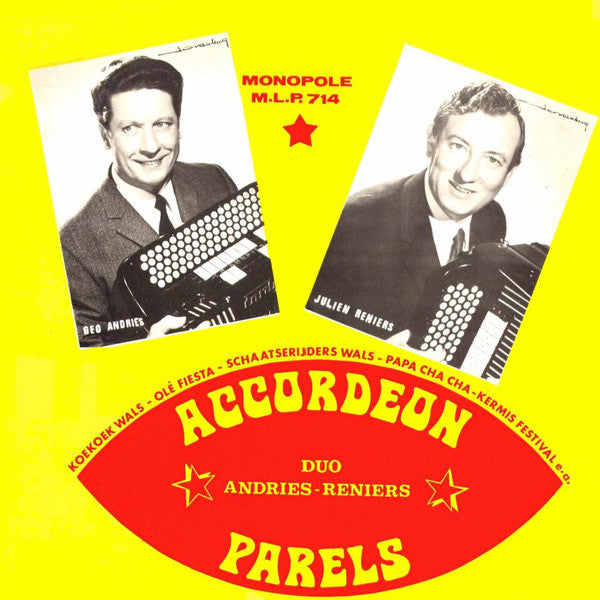 Andries* - Reniers* ‎– Accordeon Parels