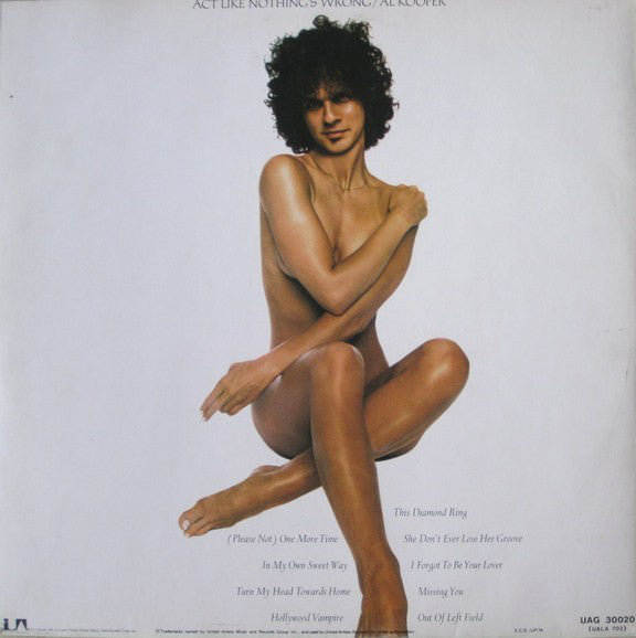 Al Kooper ‎– Act Like Nothing's Wrong