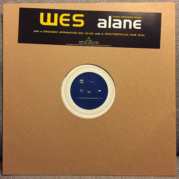 Wes ‎– Alane (Trouser Enthusiasts Remixes)
