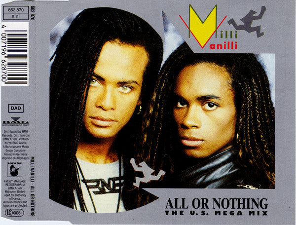 Milli Vanilli ‎– All Or Nothing (The U.S. Mega Mix)