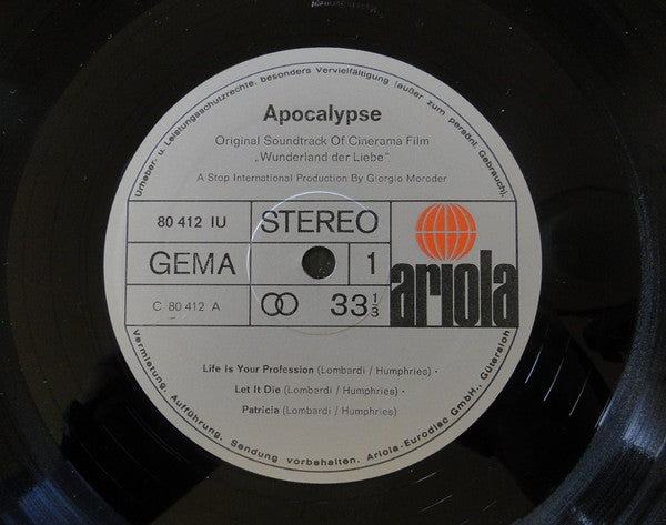 Apocalypse (11) ‎– Apocalypse - Original Soundtrack Of Cinerama Film