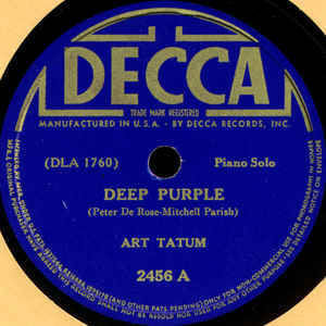 Art Tatum ‎– Deep Purple / Tea For Two