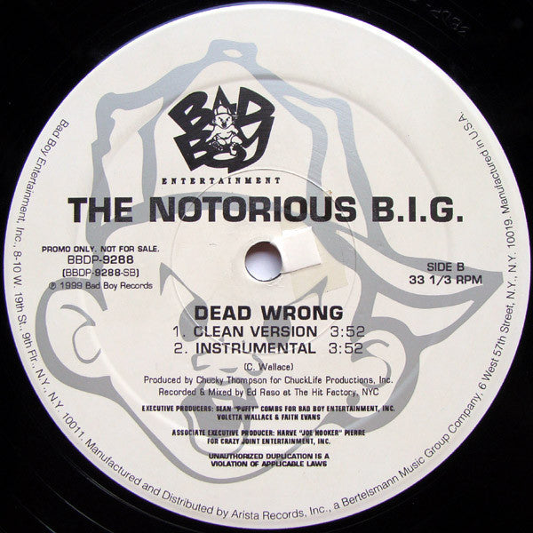 Notorious B.I.G., The* ‎– Dead Wrong