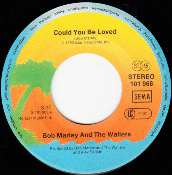 Bob Marley & The Wailers ‎– Could You Be Loved