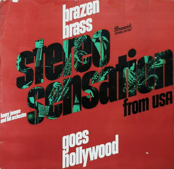 Henry Jerome And His Orchestra ‎– Brazen Brass Goes Hollywood