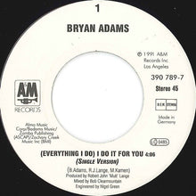 Bryan Adams ‎– (Everything I Do) I Do It For You