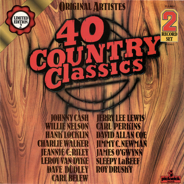 Various ‎– 40 Country Classics ( 2 LP )