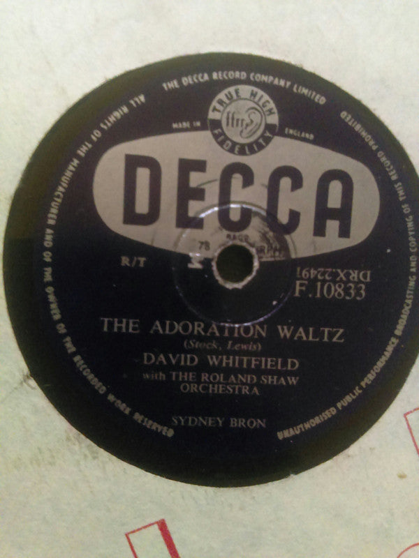 David Whitfield ‎– The Adoration Waltz