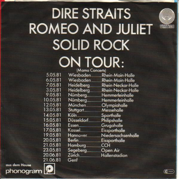 Dire Straits ‎– Romeo And Juliet
