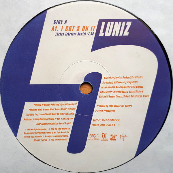 Luniz ‎– I Got 5 On It (Urban Takeover Remix)