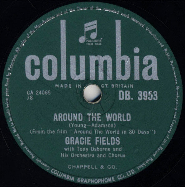 Gracie Fields With Tony Osborne And His Orchestra And Chorus* ‎– Around The World / Far Away