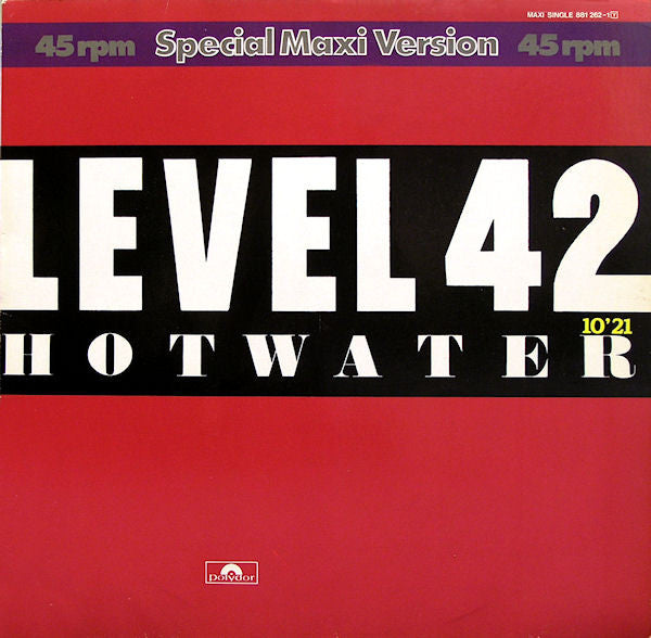 Level 42 ‎– Hot Water
