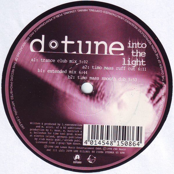 D-Tune (3) ‎– Into The Light