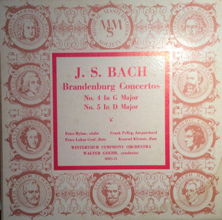 Johann Sebastian Bach ‎– Brandenburg Concertos No. 4 In G Major / No. 5 In D Major