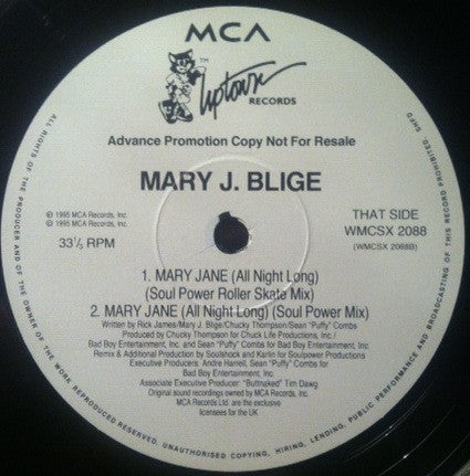Mary J. Blige ‎– Mary Jane (All Night Long)