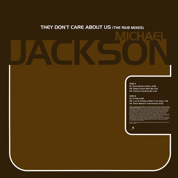 Michael Jackson ‎– They Don't Care About Us (The R&B Mixes)