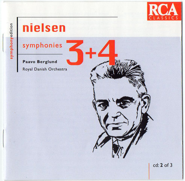 Nielsen*, Paavo Berglund, Royal Danish Orchestra* ‎– Symphonies 3 + 4