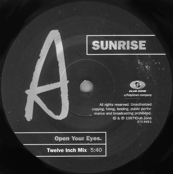 Sunrise ‎– Open Your Eyes