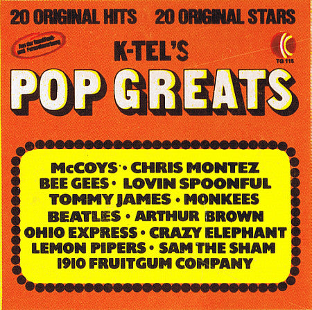Various ‎– K-Tel's Pop Greats