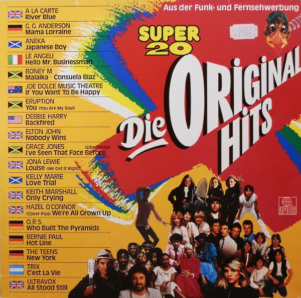 Various ‎– Super 20 Die Original Hits
