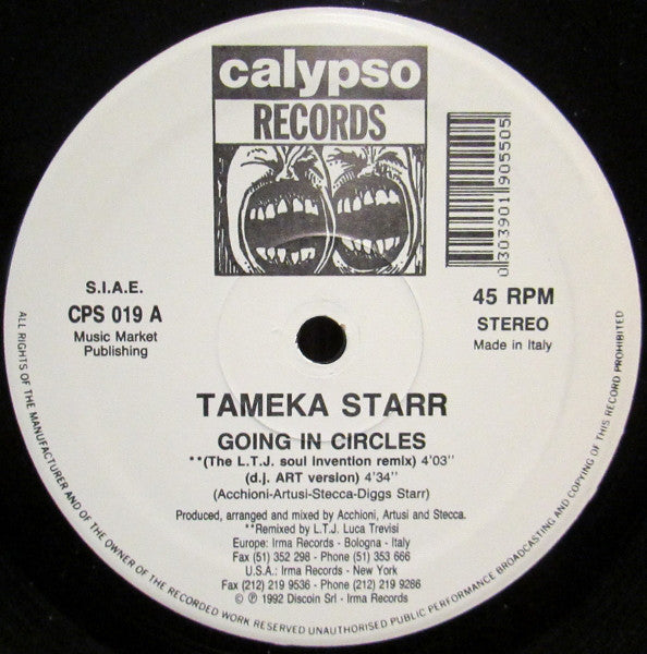 Tameka Starr ‎– Going In Circles