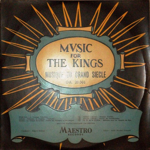 André Marchal / Belgian Radio Chamber Orchestra / Edgar Doneux ‎– Music For Kings - Musique Du Grand Siecle