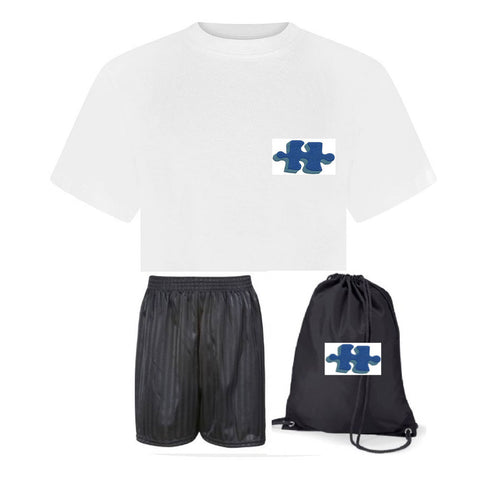 South End Junior School PE Kit with Logo