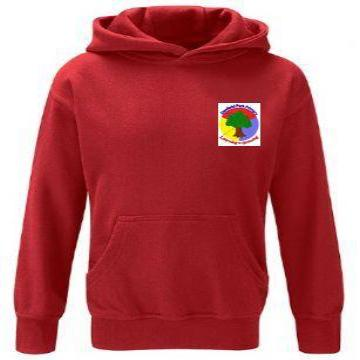 Denfield Red PE Hoodie with Logo