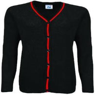 Friars Academy Black with Stripe Cardigan