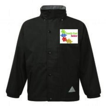 South End Junior Waterproof Reversible Coat with Logo