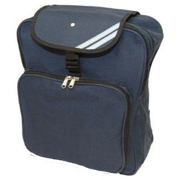Warwick Backpack in Navy with Logo