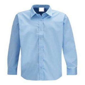 Banner Twin Pack Blue Long Sleeve Boys Shirts