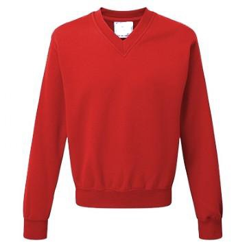 Green Park School V Neck Sweatshirt with Logo