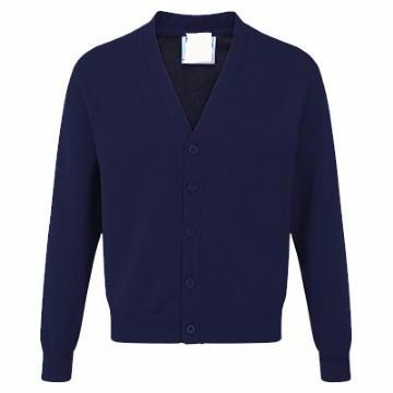 Portfields Navy Acrylic Sweatcardigan with Logo
