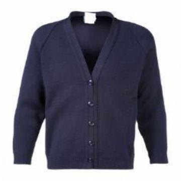 Portfields Navy Knitted Cardigan with Logo