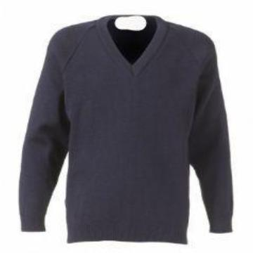 Portfields Navy Knitted Jumper with Logo